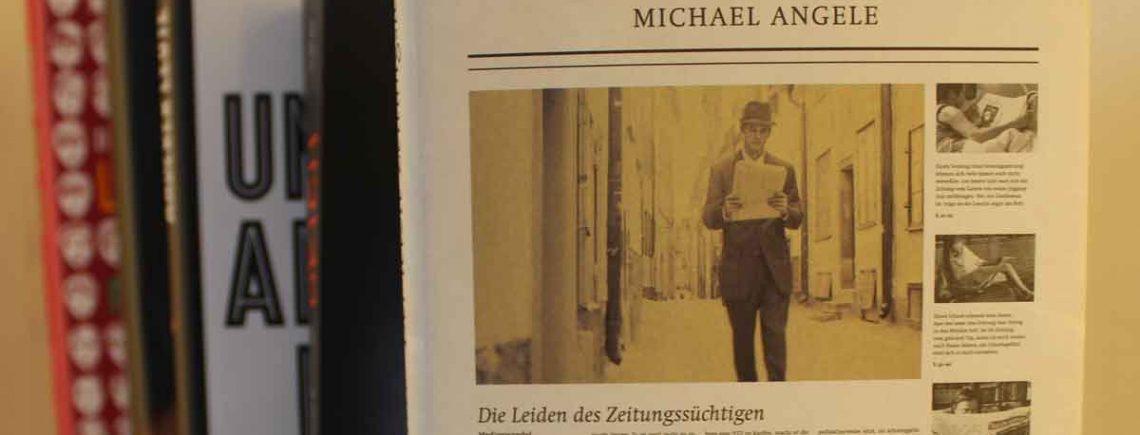 """""""Der letzte Zeitungsleser""""-Michael Angele"""